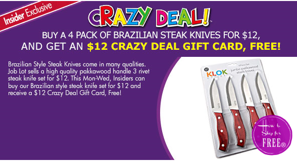 FREE Brazilian Steak Knives (4pk) for #OSJL Insiders!
