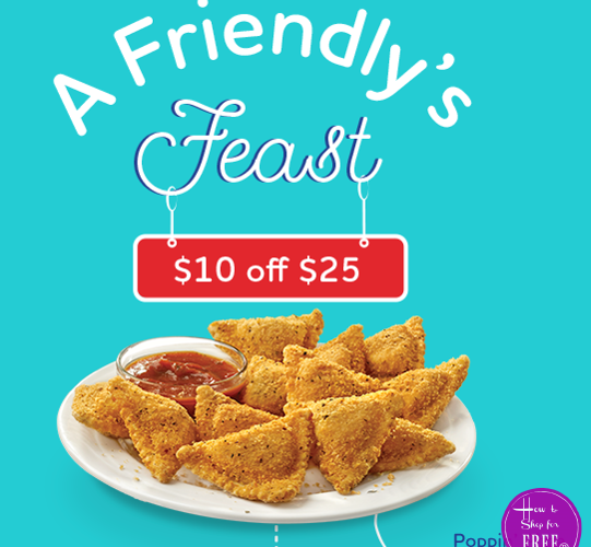 RARE Friendly's Coupon for $10 off $25!