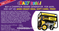 5500W Generator only $199 with OSJL Insider Deal!!