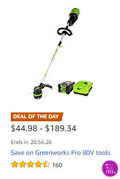 Save on Greenworks Pro 80V Tools ~Deal of the Day