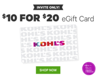 50% OFF Kohl's eGift Card!!!!