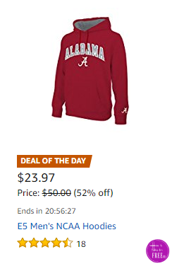 E5 Men's NCAA Hoodies 52% OFF, Today Only