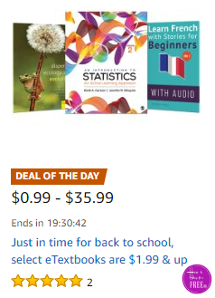 Today Only~ Up to 80% OFF eTextbooks for #BackToSchool