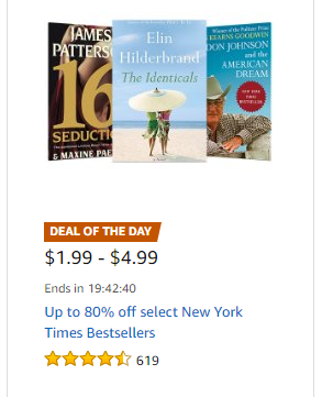 Up to 80% off New York Times Bestsellers ~Today Only!