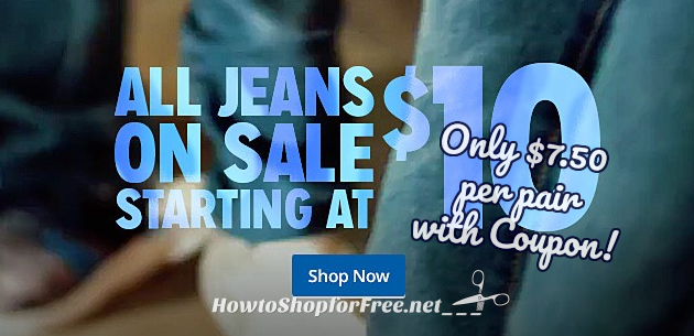 Jeans Buy 3, Get 1 FREE with HOT Kmart Deal! ($7.50/pair)