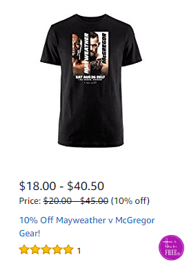 Mayweather v McGregor Gear ON SALE! ~Deal of the Day
