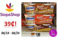 Minute Rice only $.39 at Stop & Shop!