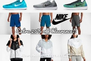 WOWZER, Extra 20% off Nike Clearance!!