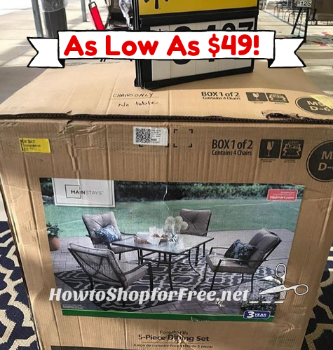 5pc. Outdoor Dining Set as low as $49!! WOWZER