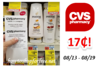 Pantene Shampoo or Conditioner only $.17 at CVS!