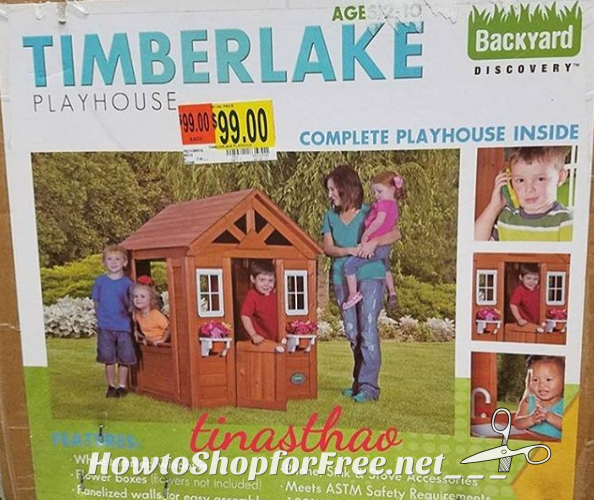 RUN DEAL~ 69% OFF Wooden Playhouse! (Was/$249)