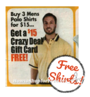 FREE Men's Polo Shirts! ~Stock Up for School!