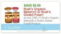 **NEW Printable Coupon** .55/1 Rudi's Organic Bakery or Rudi's Gluten Free Product