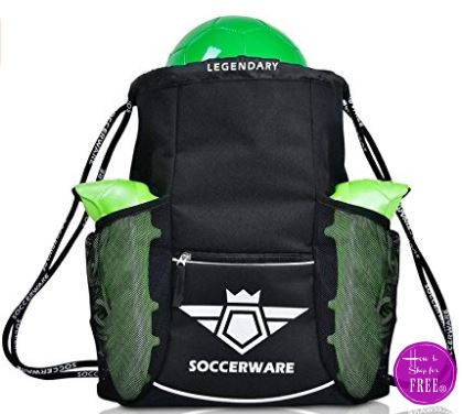 **Amazon Lightning Deal** Soccer Bag Backpack – XL Capacity – 53% off ~ ONLY $16.99 – 3 Colors Available!!
