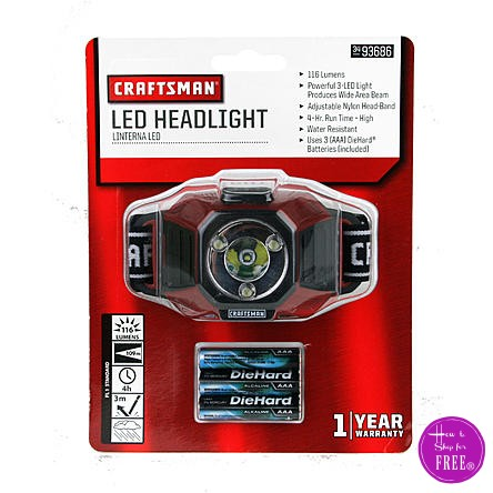 FREE Craftsman Headlamp!! GO GO GO!