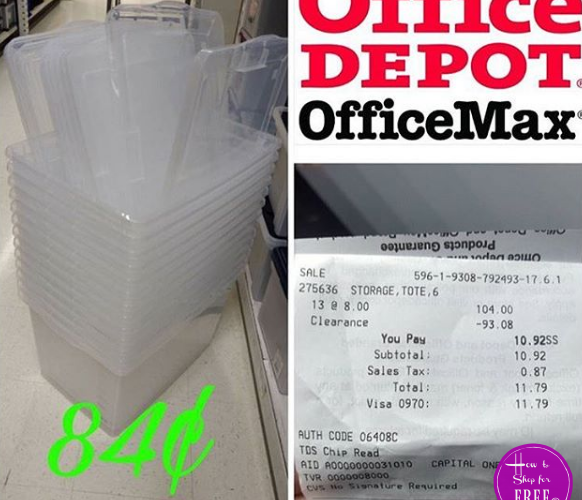 84¢ Storage Totes!!?! Check Your Store!