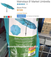 Mainstays 9′ Market Umbrella ONLY $7.00!!!