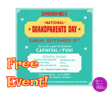 FREE Grandparents Day Event at Gymboree ~TOMORROW