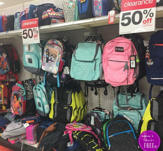 50% OFF Backpacks at Target!!