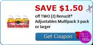 SAVE $1.50 off TWO (2) Renuzit® Adjustables Multipack 3-pack or larger
