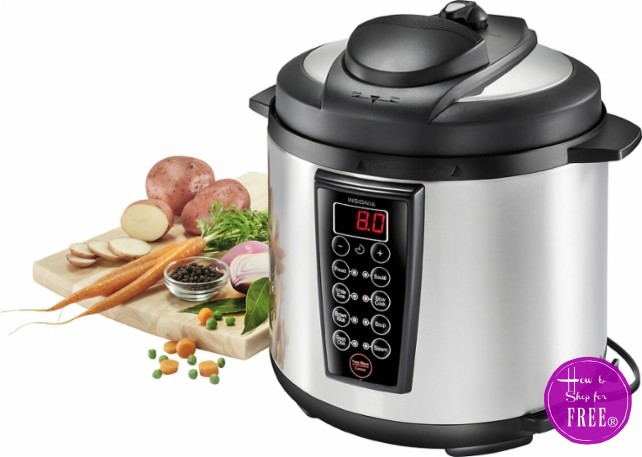 Insignia 6QT Pressure Cooker 60% OFF! RUN PRICE!