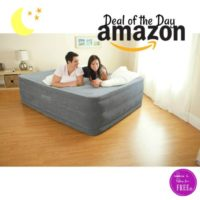 $19 OFF Intex Comfort Plush Airbed, Ships Free! Today Only!