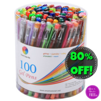 100ct. mixed Gel Pens.. 80% OFF! WOW, Only $12!