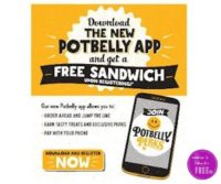 FREE Sandwich with the Potbelly App!!