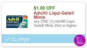 image regarding Advil Printable Coupon identify Fresh new Printable Coupon** $1.00/1 Advil Liqui-Gels Minis 20ct