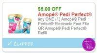 **NEW Printable Coupon** $5.00/1 Amopé Pedi Perfect Electronic Foot File OR Amopé Pedi Perfect Refill