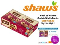Back to Nature Cookie Multi-Packs ONLY $1.00 at Shaw's 09/15 ~ 09/21!