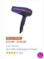 Up to 40% OFF Remington Appliances ~Deal of the Day