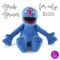 Grab Grover for only $5.00 for a Good Cause!!!!!