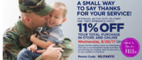 Military Discount at Dollar General! ~ Today, 9/20 ONLY!