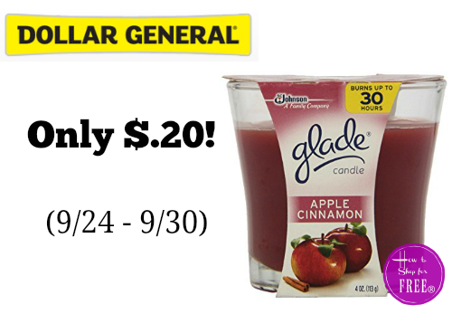 *Update* Glade Candles as low as $.40 at Dollar General