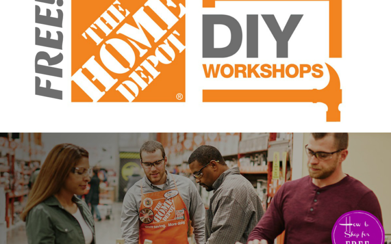 FREE Home Depot #DIY Workshops (September Schedule)