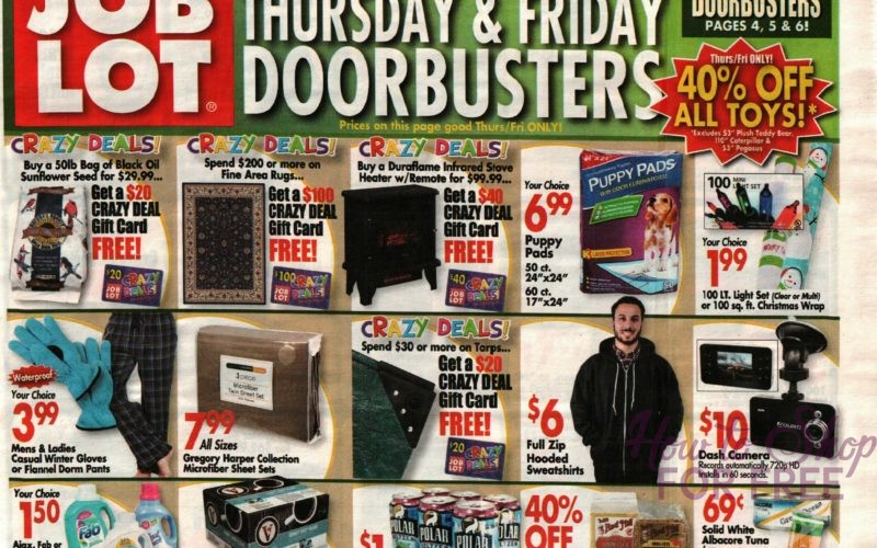 Job Lot Shoppers.. IT'S HERE~ Black Friday Ad!!
