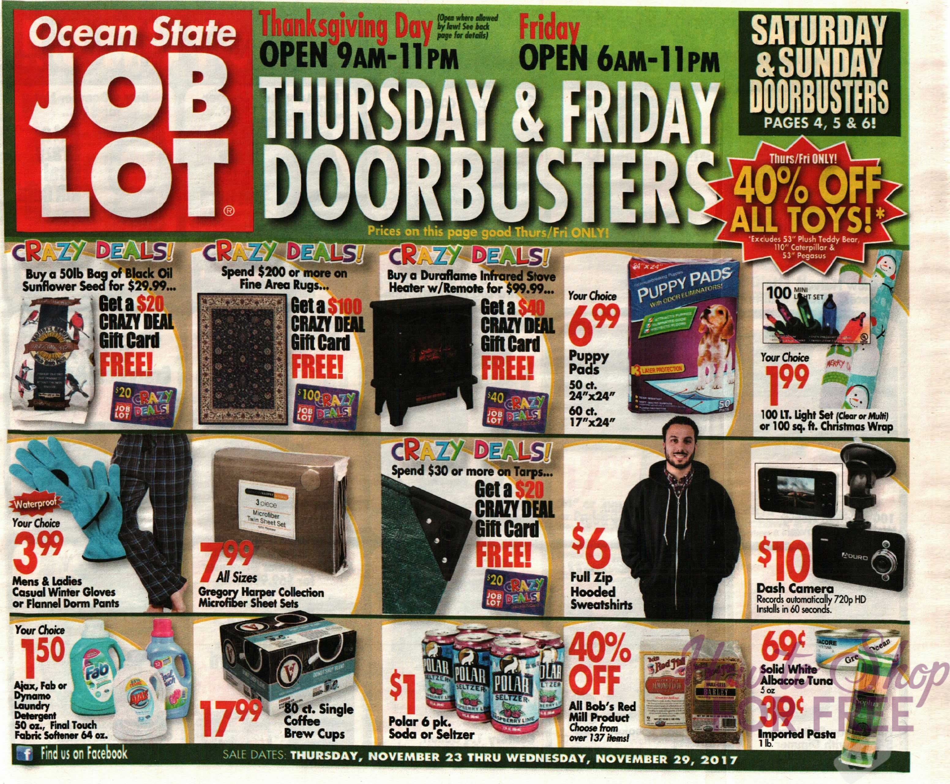 photo regarding Ocean State Job Lot Coupons Printable named OSJL Black Friday Advertisement How toward Retailer For Cost-free with Kathy Spencer