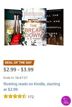 **Amazon Deal of the Day** Riveting Reads on Kindle ~ As Low As $2.99!