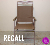 Patio Set Chairs RECALLED Due to Fall Hazard