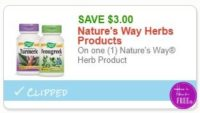 **NEW Printable Coupon** $3.00/1 Nature's Way Herb Product