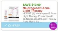 **NEW Printable Coupon** $10.00/1  Neutrogena Acne Light Therapy Product