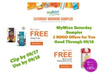 MyMixx Saturday Sampler – 2 BOGO Offers for You at Shaw's ~ Good Through 09/18!