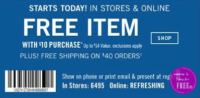 FREE Bath & Body Works Coupon for item up to $14.00!
