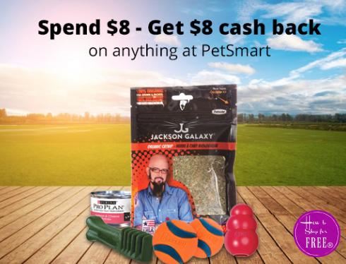 WHOO Hoo!  FREE $8.00 to Spend at PetSmart!!
