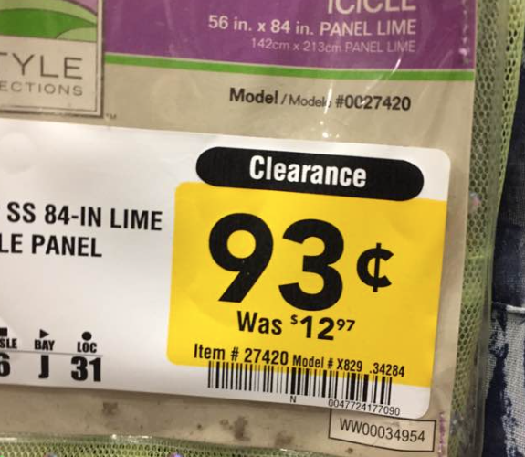 Curtains for Under 1 Buck at Lowes