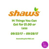 14 Things You Can Get for $1.00 or Less at Shaw's 09/22 ~ 09/28!