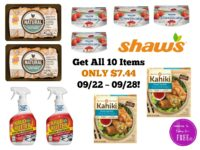 WOW! Get All 10 Items ONLY $7.44 at Shaw's 09/22 ~ 09/28!