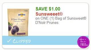 **NEW Printable Coupon** $1.00/1 Sunsweet D'Noir Prunes
