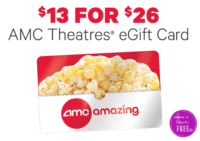 Movie Night!! $26 AMC Gift Card ONLY $13 oop!!